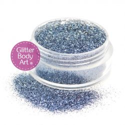 gray face & body glitter jar of loose glitter for cosmetic makeup and glitter tattoos