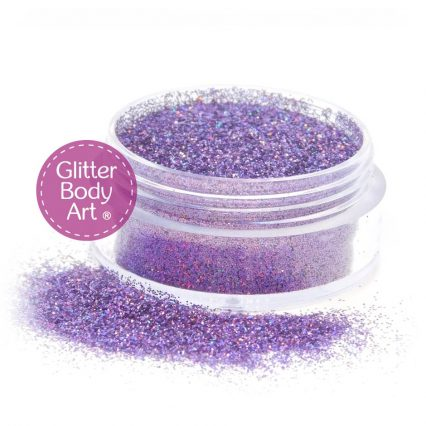 lavender purple face & body glitter jar of loose glitter for makeup and glitter tattoos