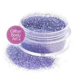 lilac face & body glitter for makeup, loose glitter in jar