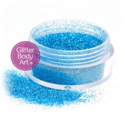 marine blue face & body glitter jar of loose glitter for makeup and glitter tattoos