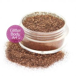 brown mocha face and body glitter makeup