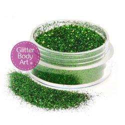 Moss Green face & body glitter jar of loose glitter for makeup and glitter tattoos