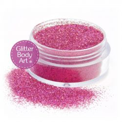 pink sparkle face and body glitter makeup