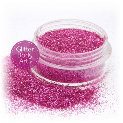 raspberry pink face and body glitter