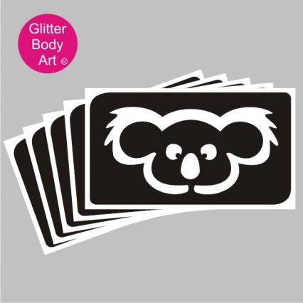 cute Austrlian Koala Bear temporary tattoo stencils