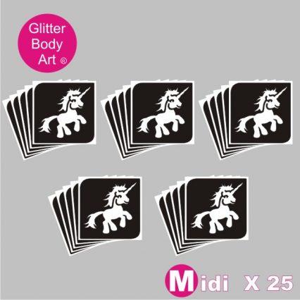 25 midi my little pony temporary tattoo stencils for glitter tattoos
