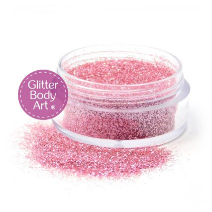 baby pink body glitter for glitter tattoos