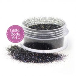 black dazzle body glitter, halloween glitter
