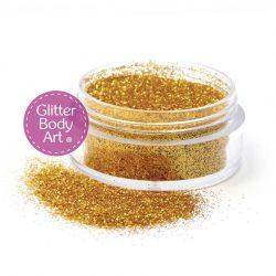 gold body glitter for glitter tattoos