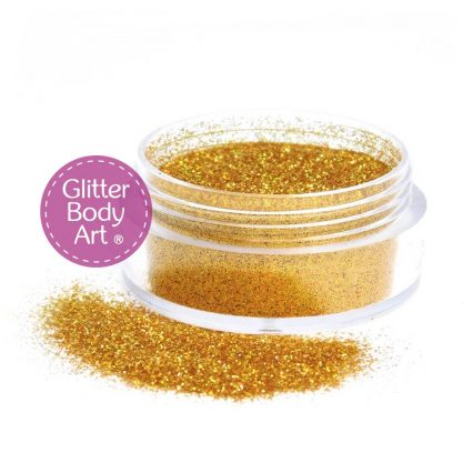 gold holographic body glitter jar of loose glitter for glitter tattoos
