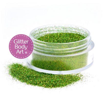 5 Gram Jar Holographic Green loose body glitter for glitter tattoos