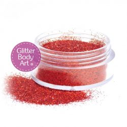 holographic red body glitter