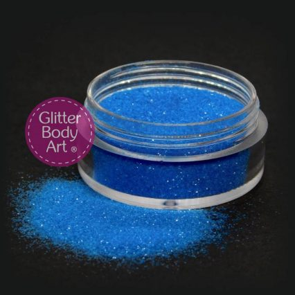 neon blue cosmetic glitter for makeup and glitter tattoos