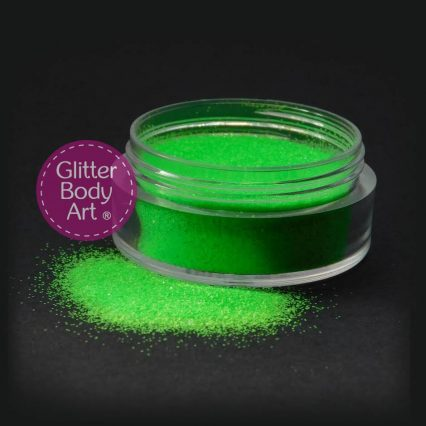 UV green body glitter cosmetic glitter for makeup and cosmetic glitter