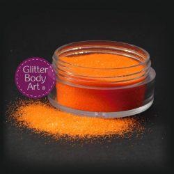 uv orange body glitter for glitter tattoos