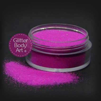 purple uv body glitter jar of loose UV glitter for glitter tattoos