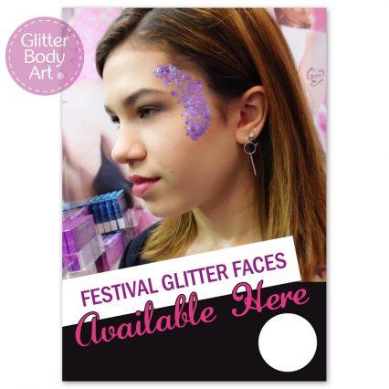 festival glitter advertising poster