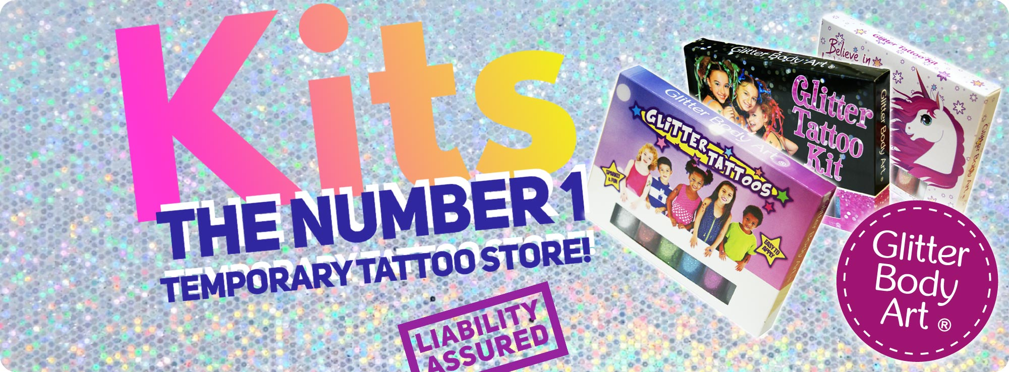 temporary tattoo kits for kids with stencils, glitter and body glue