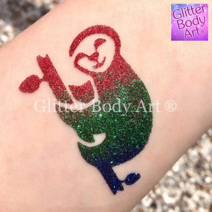 Sloth temporary tattoo stencil, sloth glitter tattoo stencil
