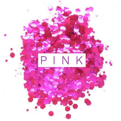 pink bio glitter festival glitter mix for face and hair