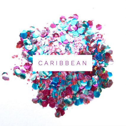 carribean eco friendly festival glitter mix for glitter makeup and hair