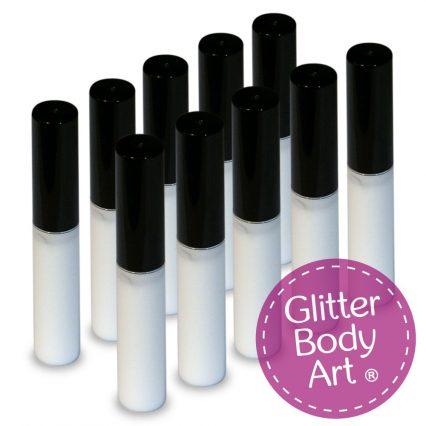 body glue, skin glue, tattoo glue pack of 10 4ml wands with sponge applicator