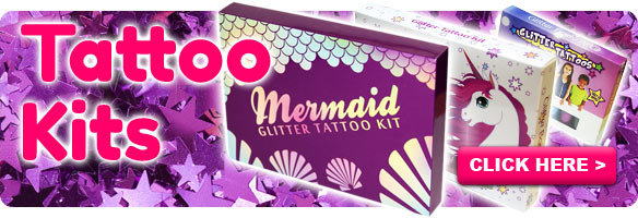Temporary Tattoo Store - Glitter Tattoos, Stencils & Face