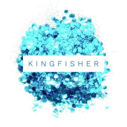 kingifisher blue holographic eco friendly festival glitter mix, eco glitter mix