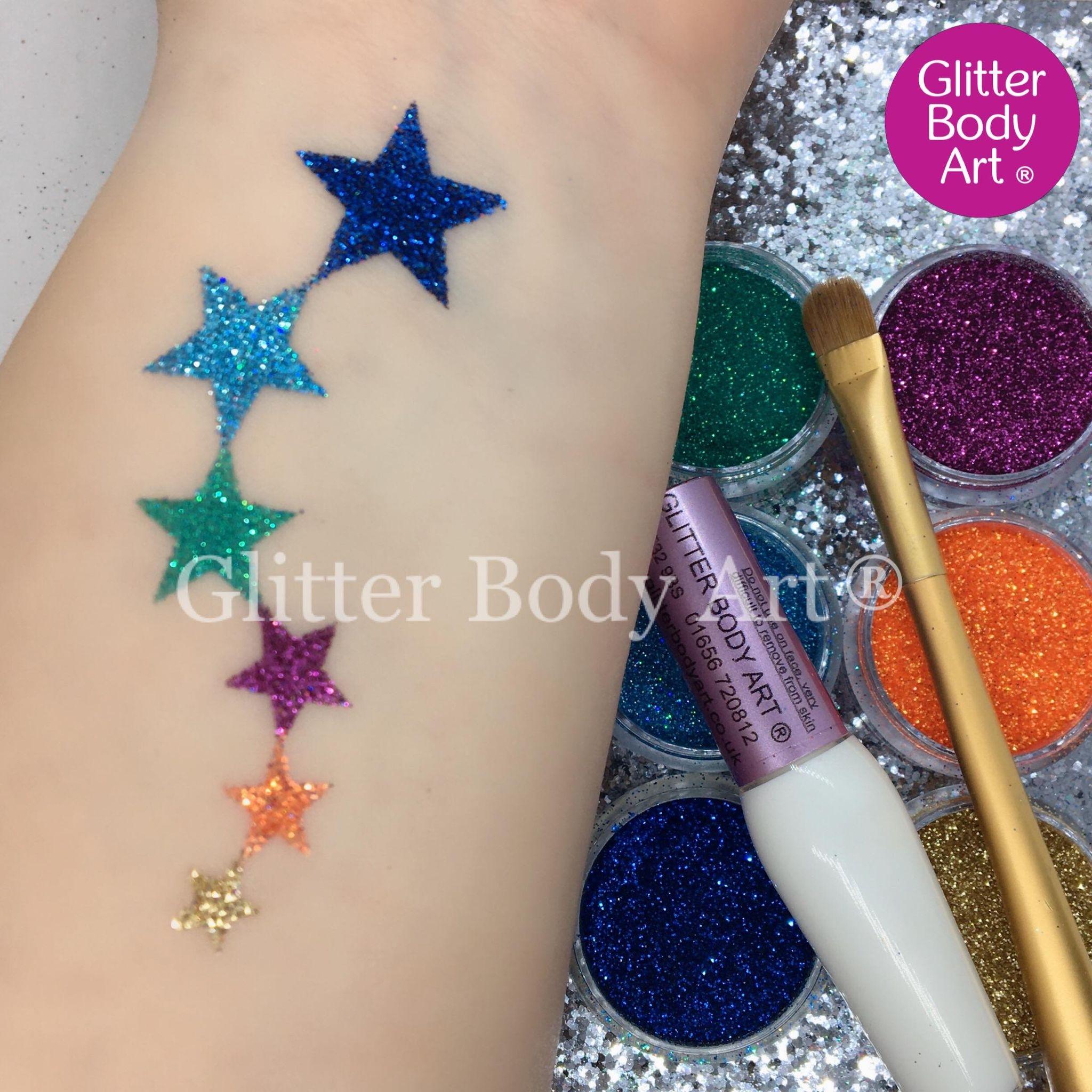 Falling stars temporary tattoo stencil