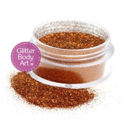 Holographic Orange Body Glitter Jars of loose glitter for glitter tattoos
