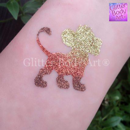 baby lion temporary tattoo stencil Simba glitter tattoo, Lion King birthday party theme