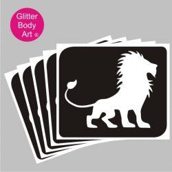 Lion King, Mufasa Lion temporary tattoo stencil, Tiger stencil