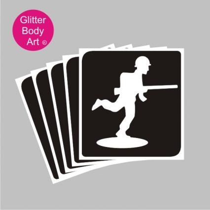 Toy Soldier temporary tattoo stencil from Toy Story Film