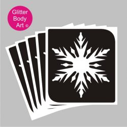 snowflake stencill for temporary tattoos