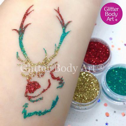 Frozen Sven Reindeer temporary tattoo for kids, Disney glitter tattoos