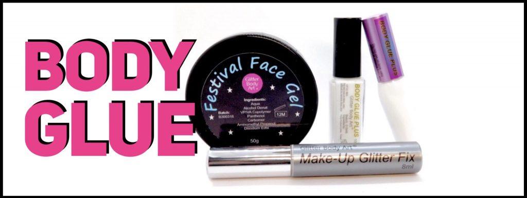 Body Glue, Skin glue and adhesive, glitter gel, glitter glue and face glue