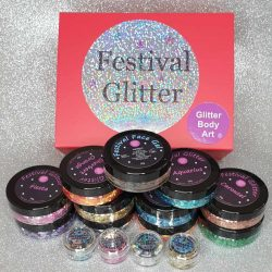 Fetival Glitter Makeup Kit - chunky glitter mixed for the face and hair