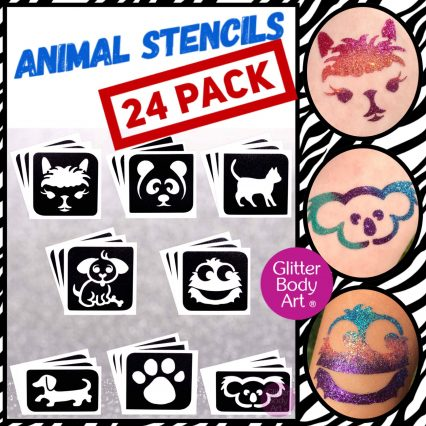 animal themed temporary tattoo stencils