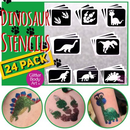 dinosaur temporary tattoo stencils