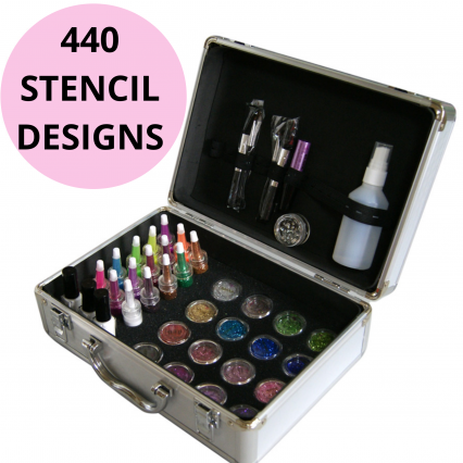 Professional temporary tattoo kit, glitter tattoo business kit