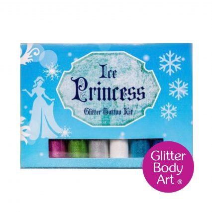 princess glitter tattoo set with glitters