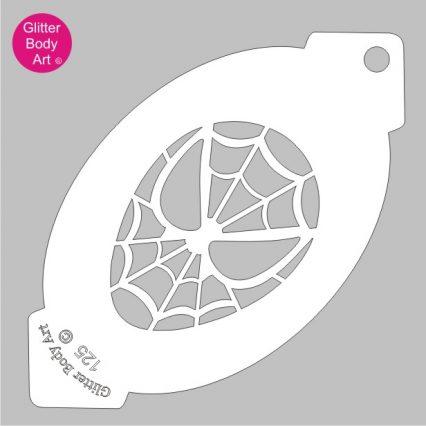 Spiderman facepainting stencil, spiderman plastic template, cake stencil