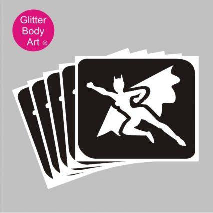 Bat woman temporary tattoos stencils for girls