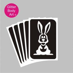 bunny glitter tattoo stencil