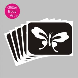 cute butterfly temporary tattoo stencil