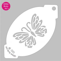 butterfly facepainting stencil