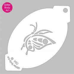 cute butterfly facepainting stencil