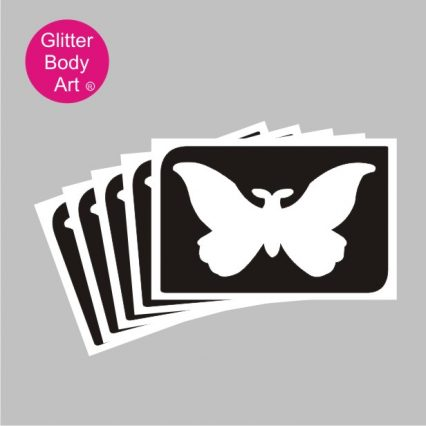cute baby butterfly temporary tattoo stencil
