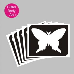 beautiful bold butterfly temporary tattoo stencil