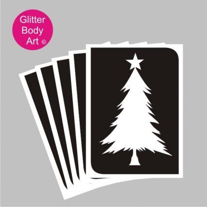 Christmas tree temporary tattoo stencil for glitter tattoos